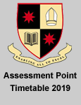 Assessment Point Timetables 2019