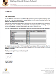 Change of School Day Timings Letter, please click here to view