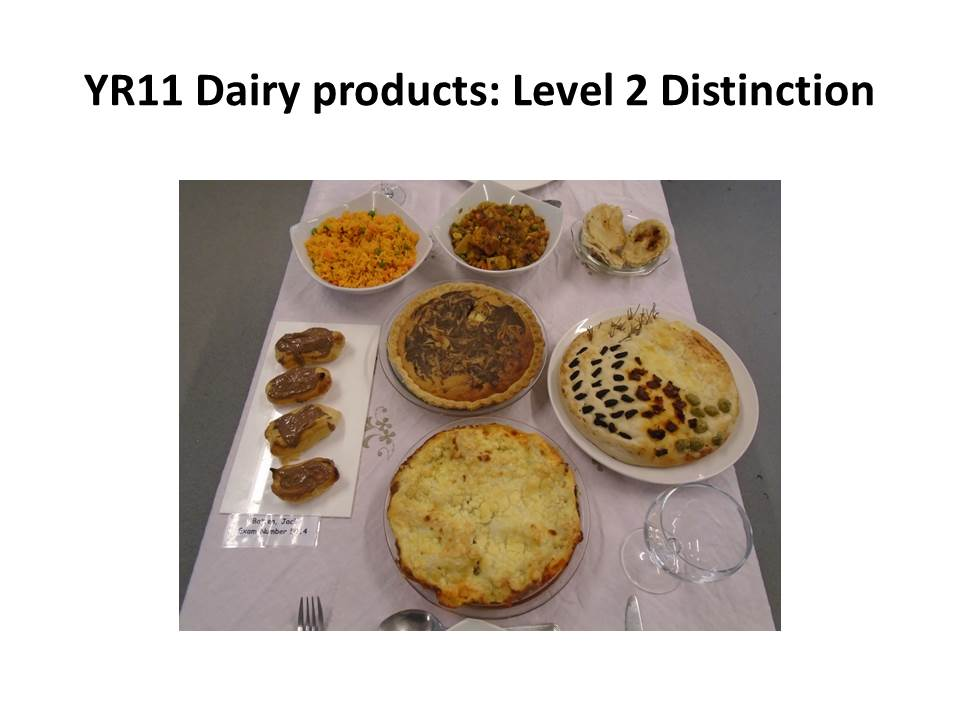gcse catering dairy coursework