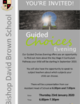 Guided Choices Evening, Thursday 23rd January 6.00pm-7.30pm